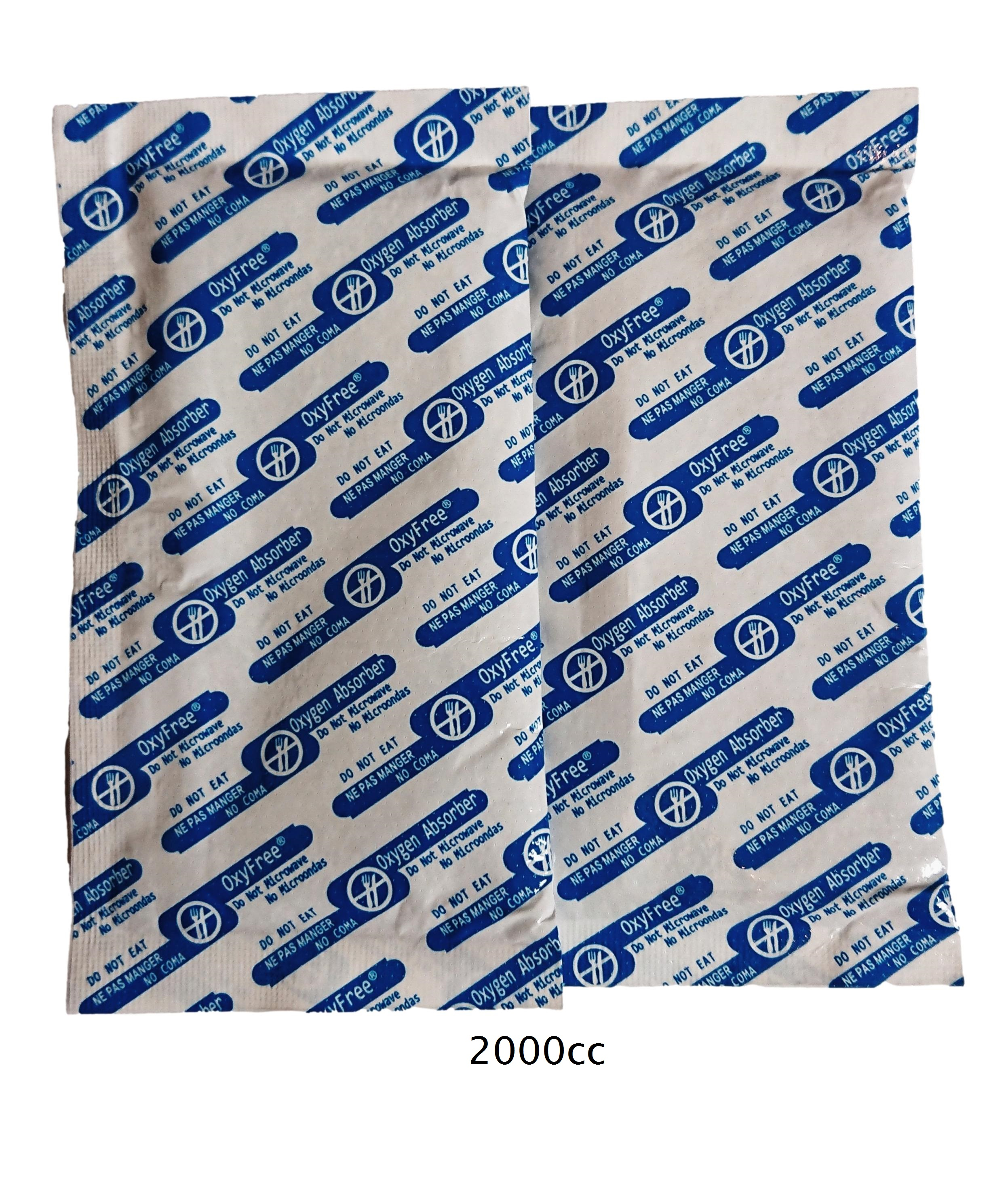 2,000cc absorbeurs d'oxygène