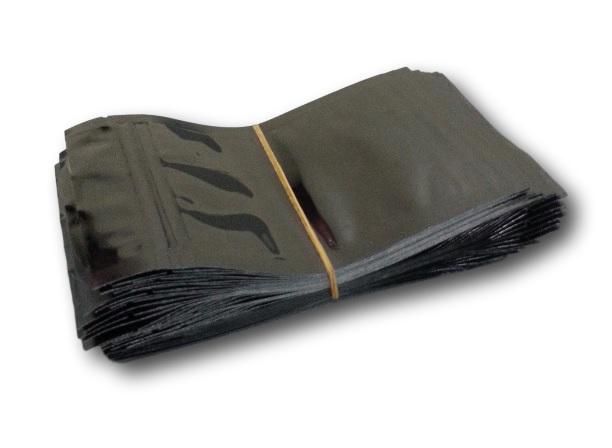 Mylar Ziplock Bag - 10cm x 15cm - Black