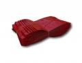 Mylar tok - 7.5cm x 10cm - piros