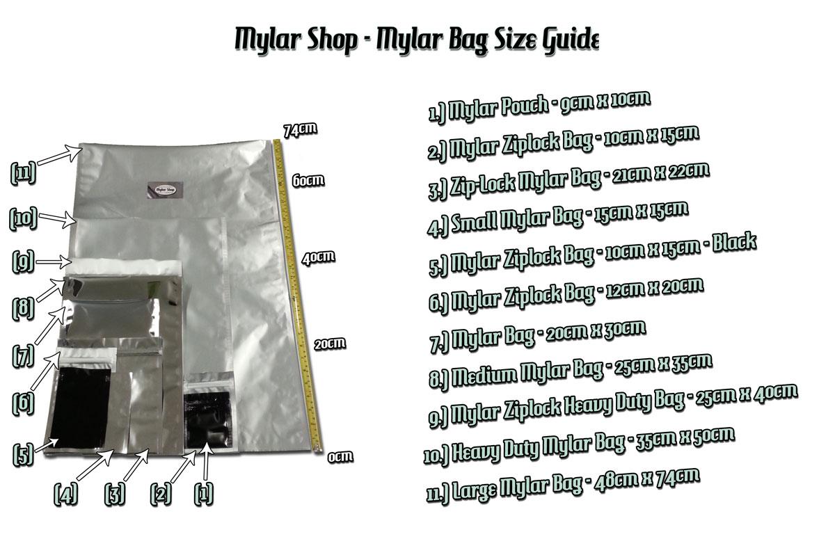 Mylar Bags Range